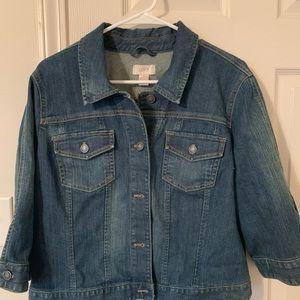 LOFT XL 3/4 Sleeve Denim Jacket